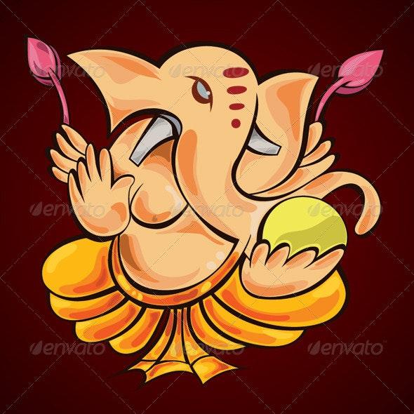 Lord Ganesha - Characters Vectors