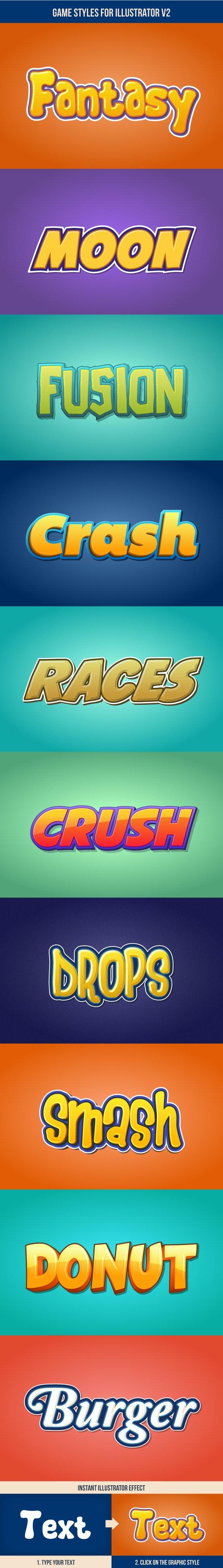 Game Styles for Illustrator V2 - Styles Illustrator