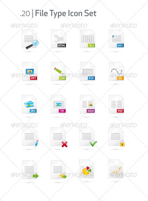 Document and File Type Icon Set - Web Icons