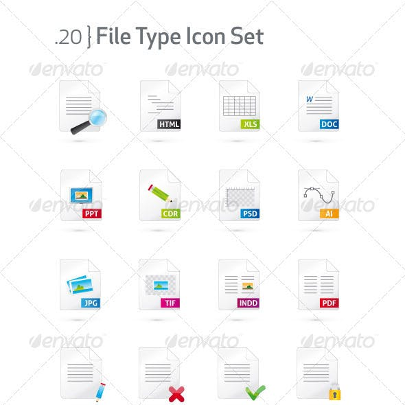 Document and File Type Icon Set