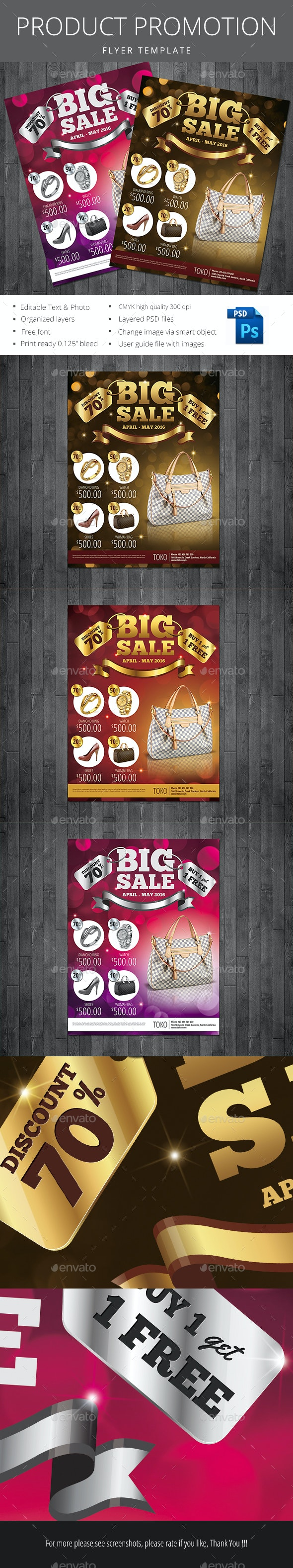 Product Promotion Flyer - Flyers Print Templates