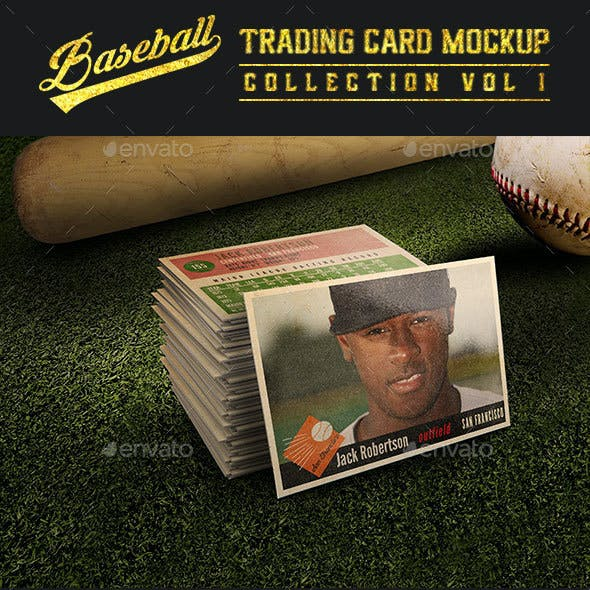 Baseball Trading Card Mock-Up Collection v1