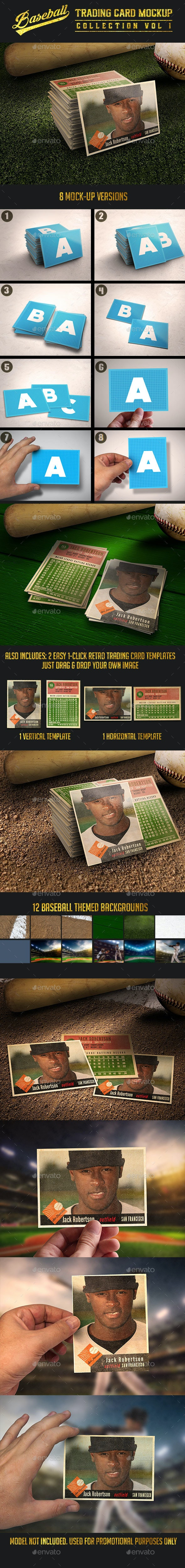 Baseball Trading Card Mock-Up Collection v1 - Miscellaneous Print