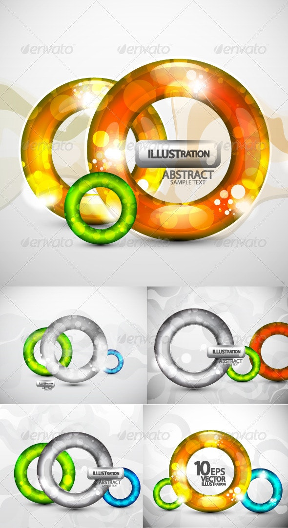 Translucent 3d rings background - Abstract Conceptual