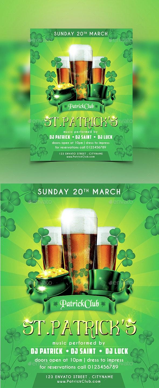 ST.Patrick's Party Flyer - Flyers Print Templates
