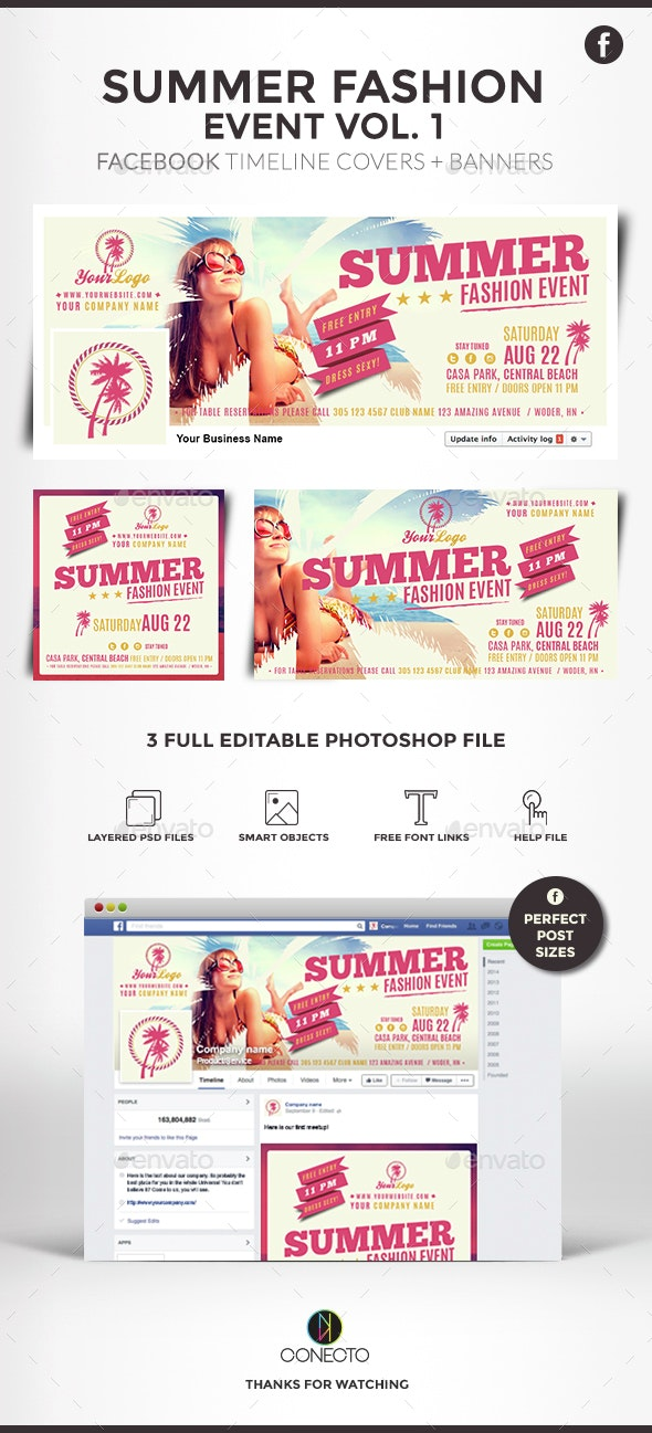 Facebook Covers and Banners - Fashion Summer Event - Facebook Timeline Covers Social Media