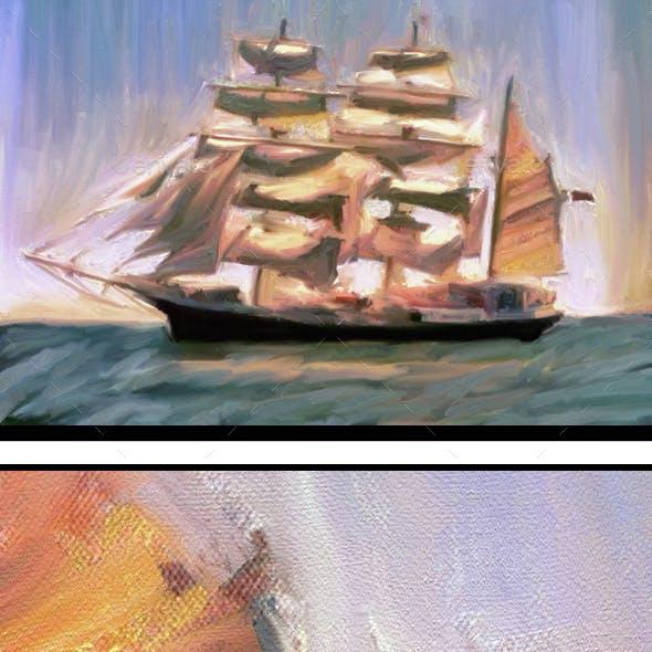 Abstract Sailboat