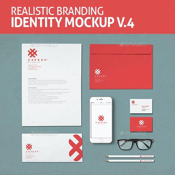 Realistic Branding & Identity Design Mockups V4