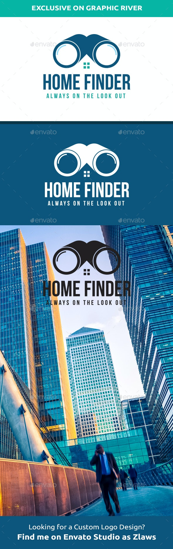 Home Finder Logo  - Abstract Logo Templates