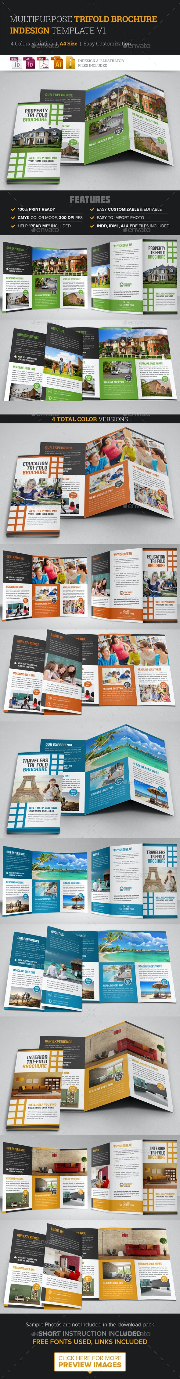 Multipurpose Trifold Brochure Indesign v1 - Corporate Brochures