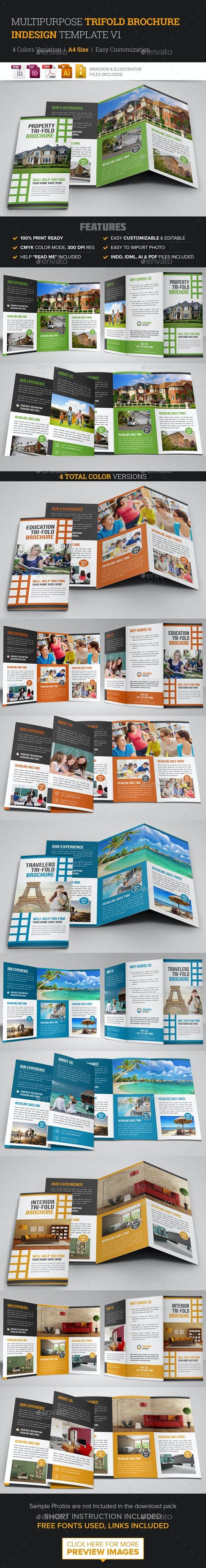 Multipurpose Trifold Brochure Indesign v1 - Corporate Brochures