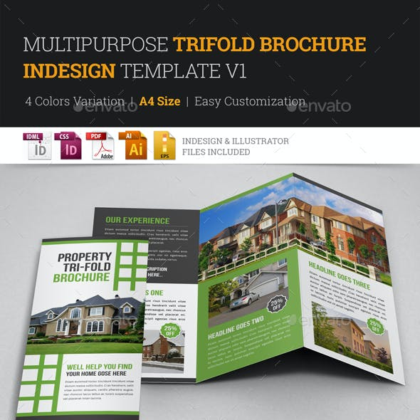 Multipurpose Trifold Brochure Indesign v1