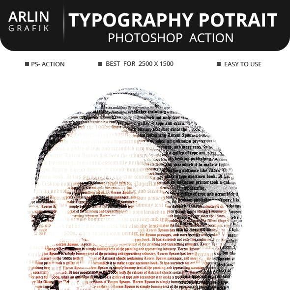 Typography Portrait Photoshop Action