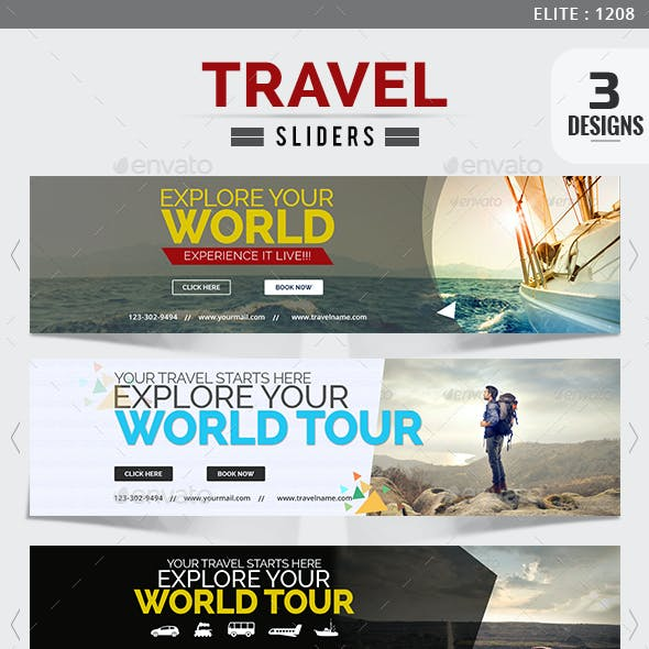 Travel Sliders - 3 Designs