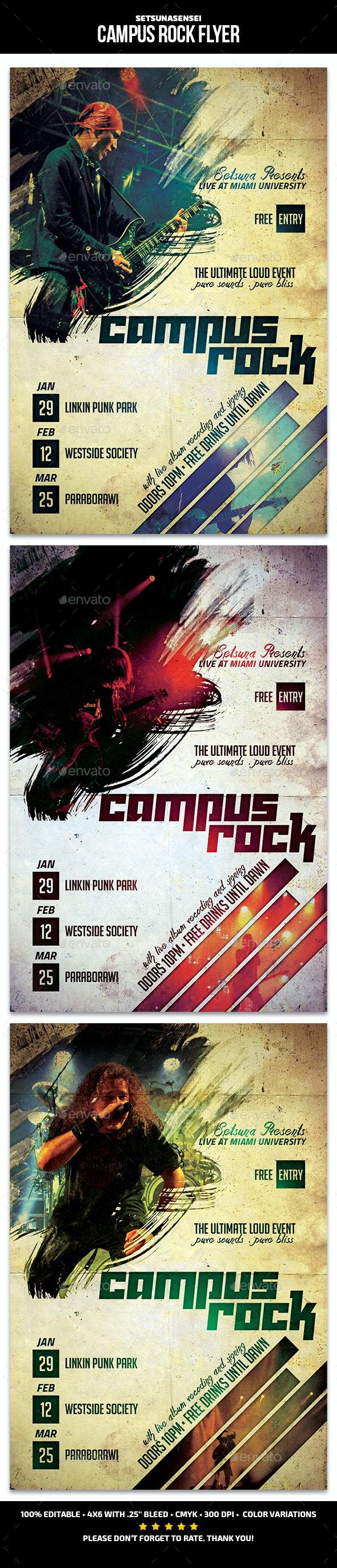 Campus Rock Flyer - Concerts Events