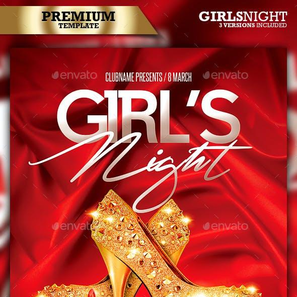 Girls Night / Red Night Party Flyer