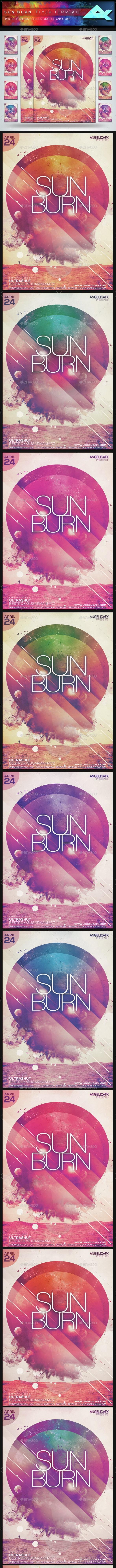 Sun Burn Flyer Template - Flyers Print Templates