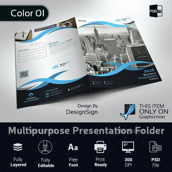 Multipurpose Business Presentation Folder