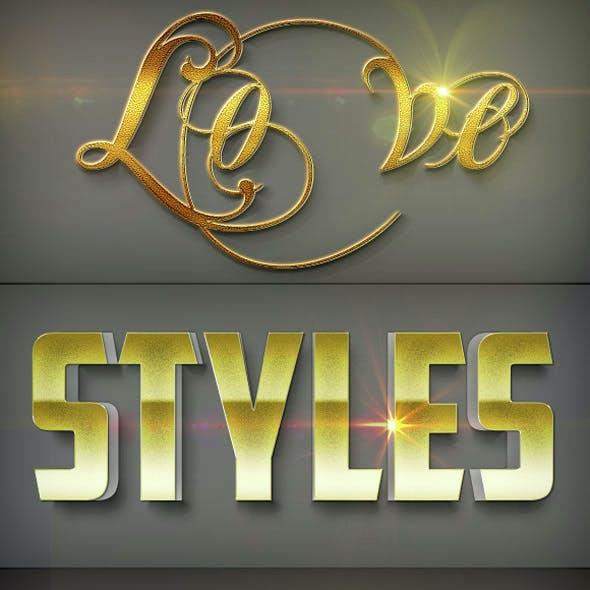 Luxury Text Styles V9