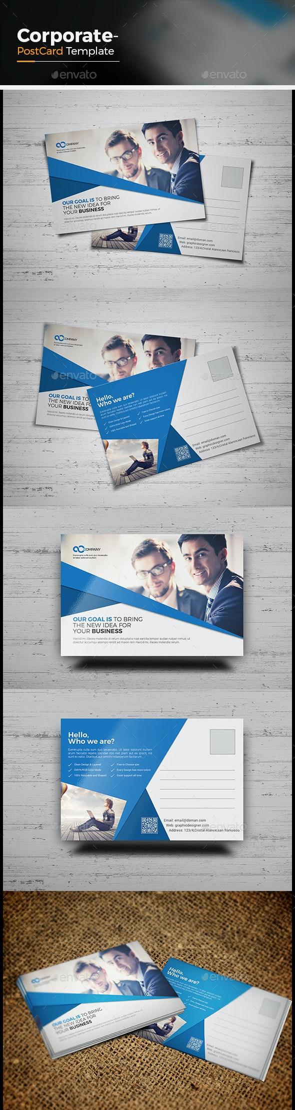 Corporate Postcard Template - Cards & Invites Print Templates