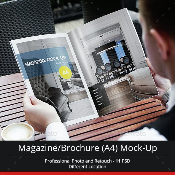 Magazine / Brochure A4 Mock-Up