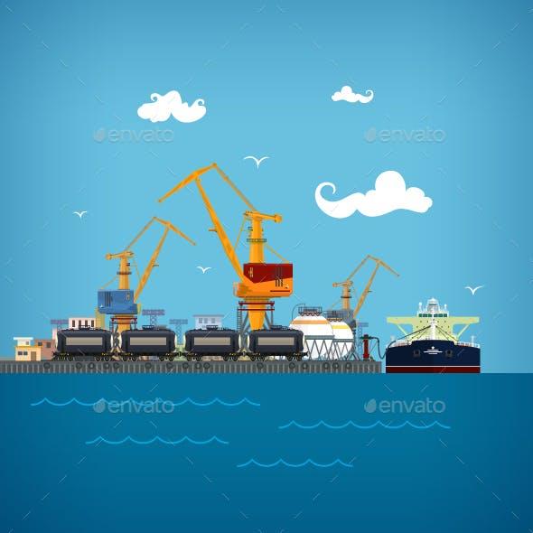 Unloading of Liquids in the Cargo Sea Port