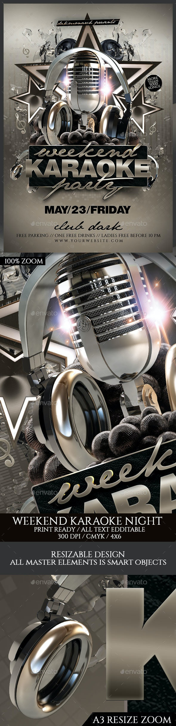Weekend Karaoke Night - Events Flyers