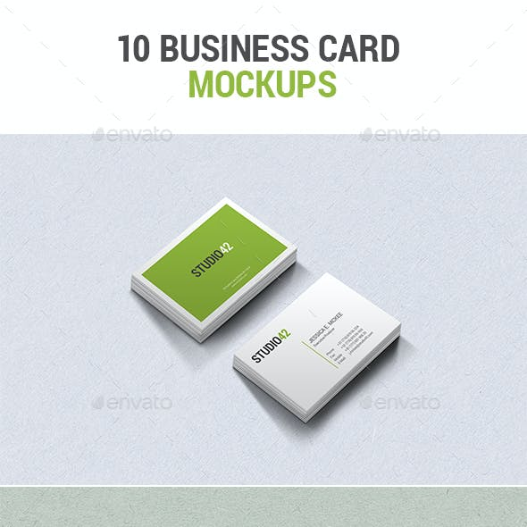 10 Business Card Mockups