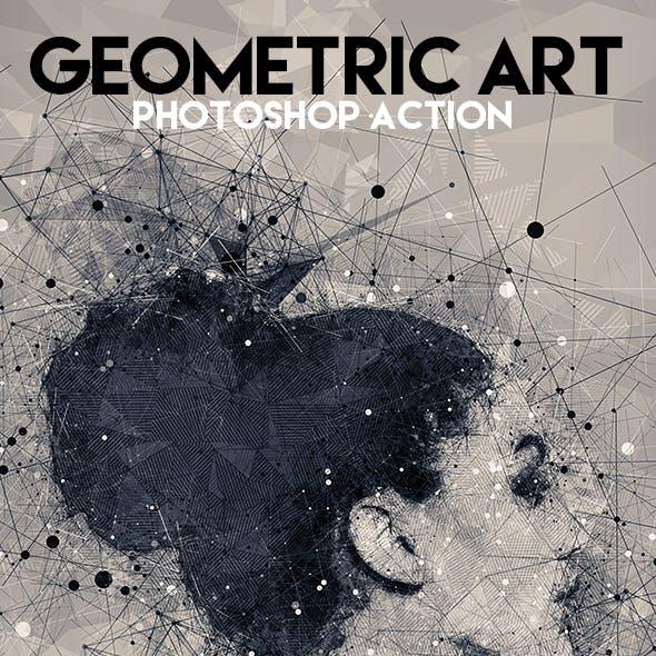 Geometric Art Photoshop Action