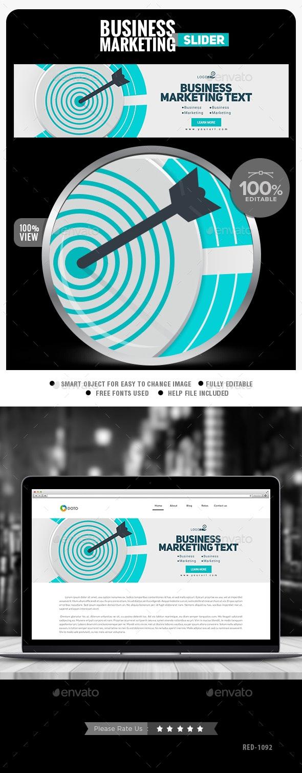 Business Marketing Slider - Sliders & Features Web Elements