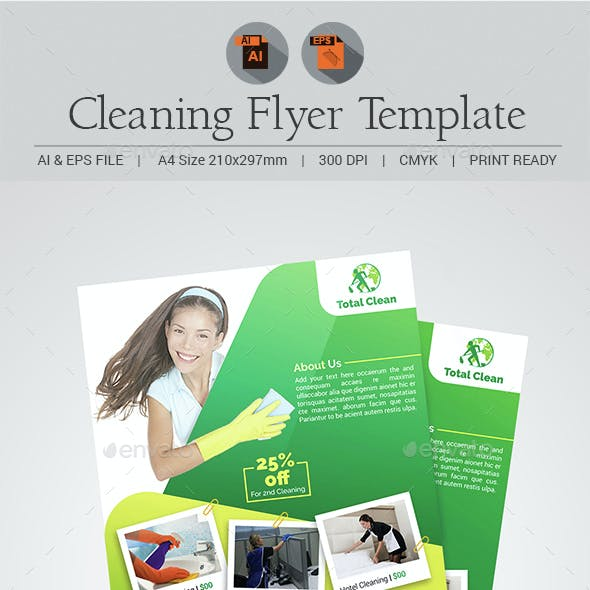 Cleaning Flyer Template V4