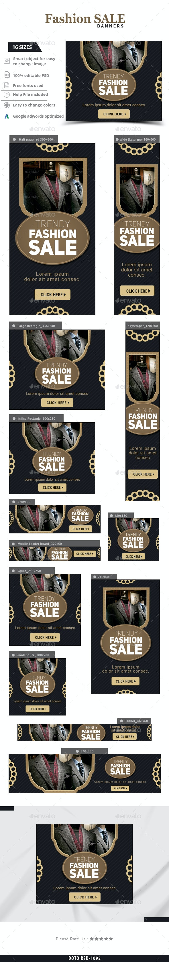 Trendy Fashion Banners - Banners & Ads Web Elements