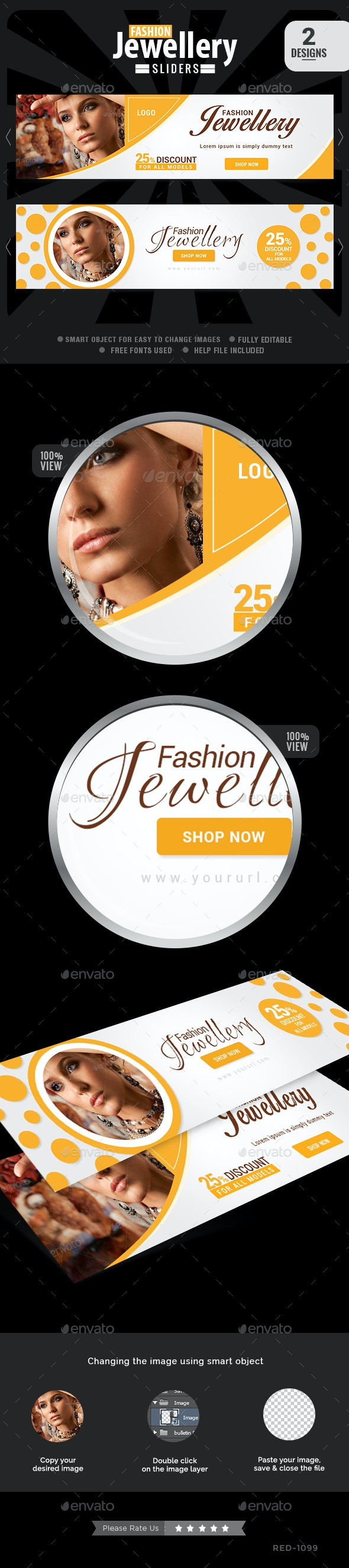 Fashion Jewellery Slider - Sliders & Features Web Elements