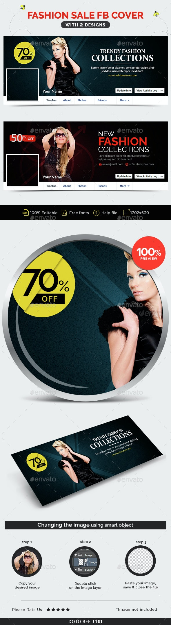 Fashion Sale Facebook Covers - 2 Designs - Facebook Timeline Covers Social Media