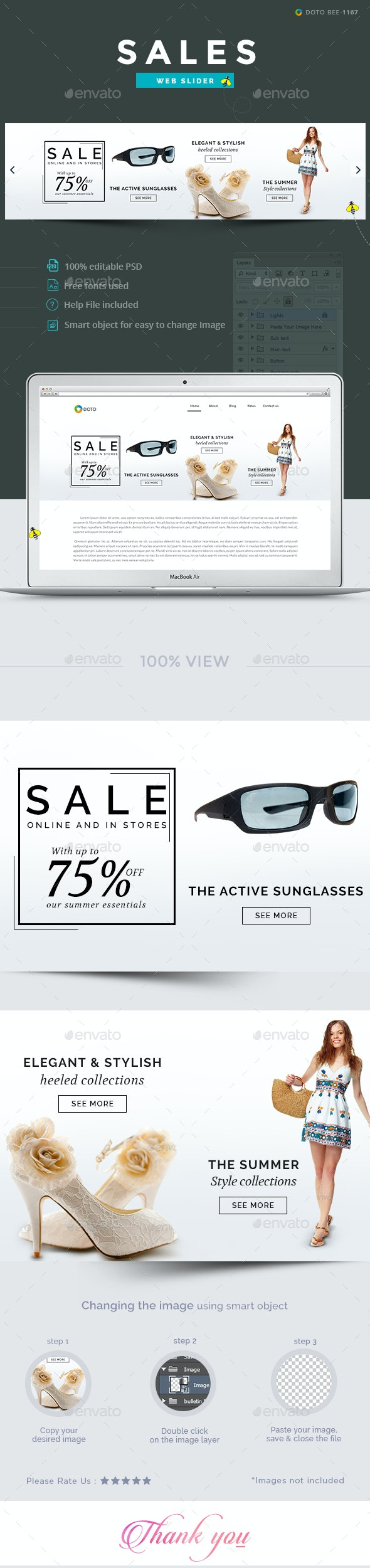 Sales Slider - Sliders & Features Web Elements