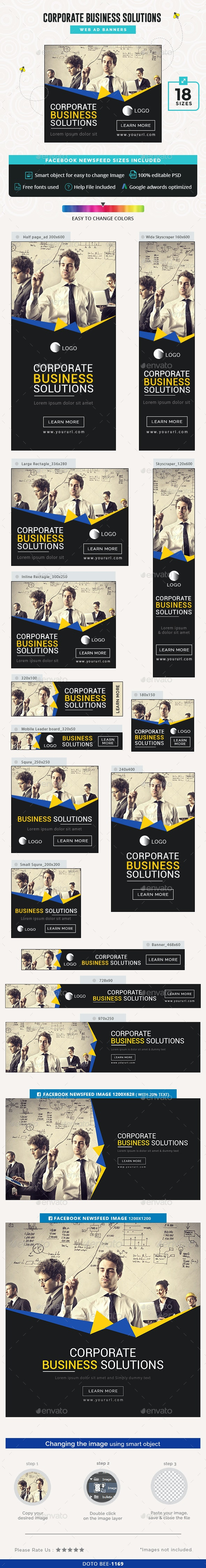 Corporate Business Banners - Banners & Ads Web Elements