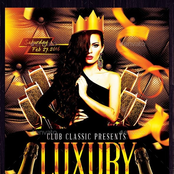 Luxury Birthday Party Flyer Template PSD