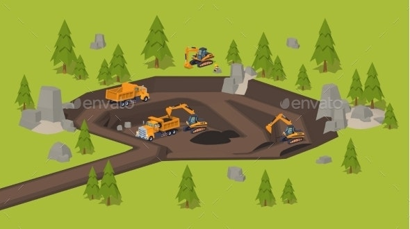 Quarry. Dig Site - Industries Business