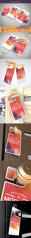 Door Hanger Mock-Ups - Miscellaneous Print