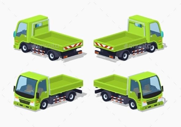 Empty Green Truck - Man-made Objects Objects
