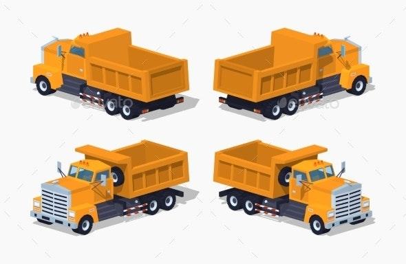 Empty Orange Dumper - Man-made Objects Objects