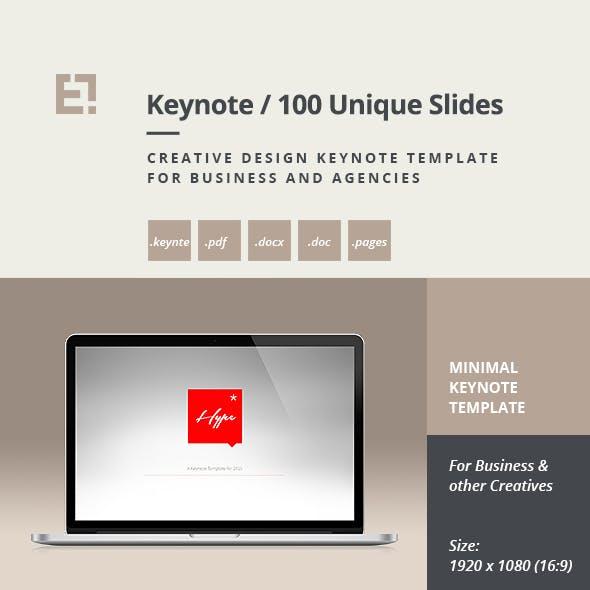 Hype - Modern Keynote Template