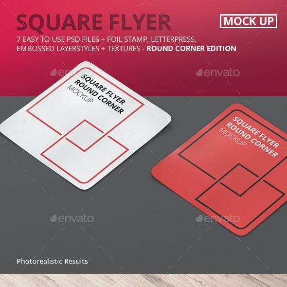 Square Flyer Mock-Up Round Corner