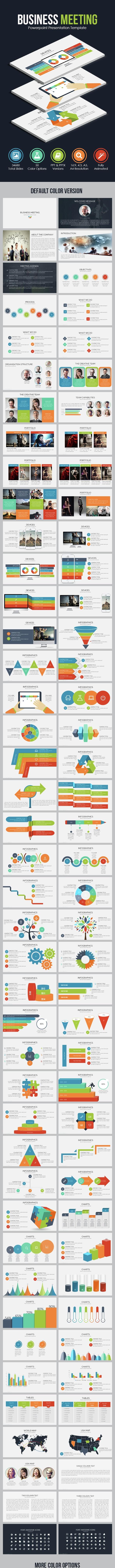 Business Meeting - Powerpoint Presentation Template - Business PowerPoint Templates