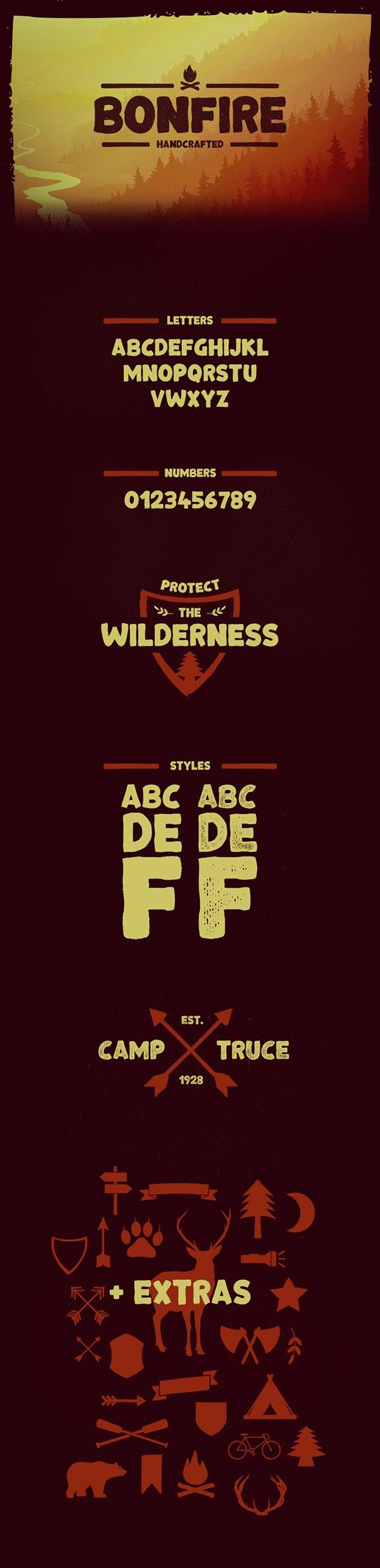 Bonfire Typeface - Fonts