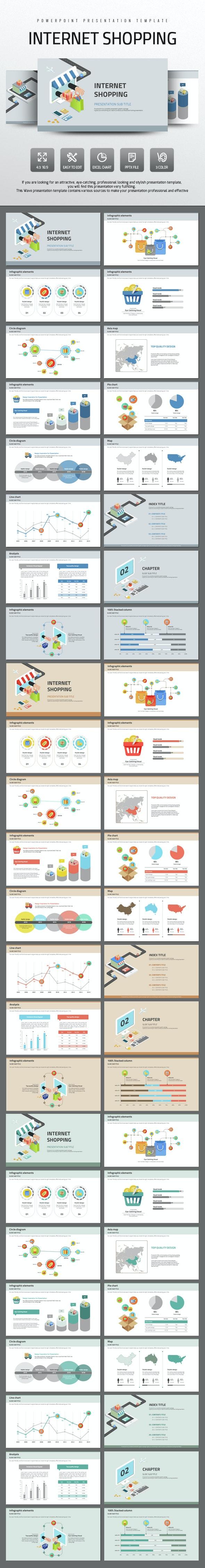 Internet Shopping - PowerPoint Templates Presentation Templates