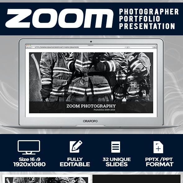 Zoom ~ Photographer Portfolio Presentation
