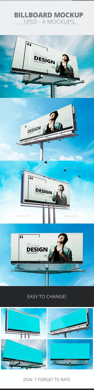 Billboard Mockup - Signage Print