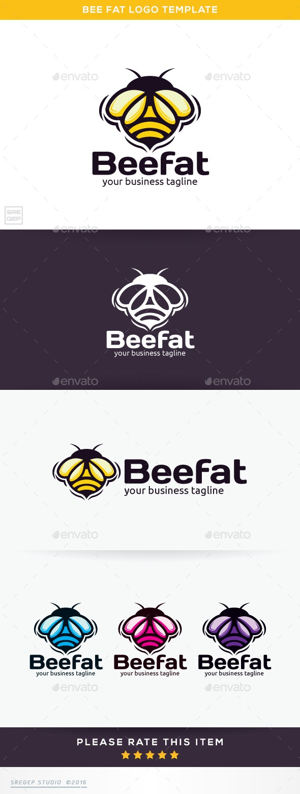 Bee Fat - Vector Abstract