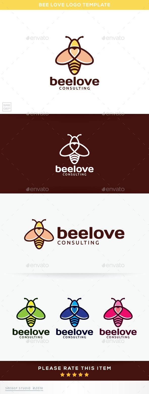 Bee Love - Vector Abstract